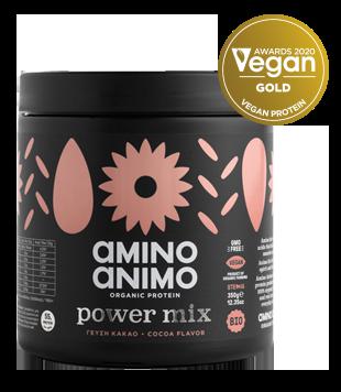 βραβευμένη πρωτεΐνη gold protein vegan φυτική amino animo power mix κακάο cocoa energy booster