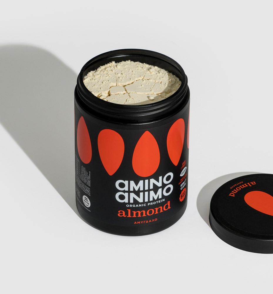 amino animo power mix organic protein οργανική πρωτεΐνη almond αμύγδαλο
