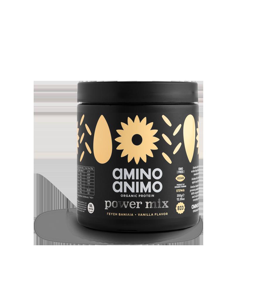 amino animo power mix organic protein οργανική πρωτεΐνη βανίλια vanilla flavor