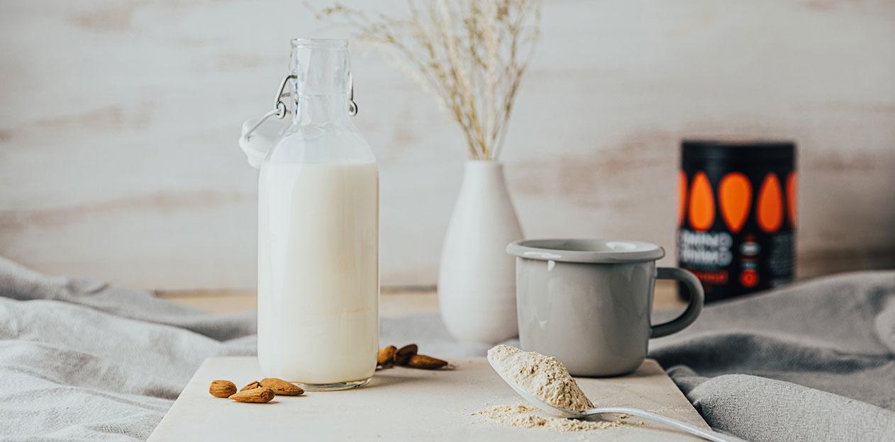 γάλα πρωτεΐνη βιολογική milk proteins healthy mornings powder almond αμύγδαλο
