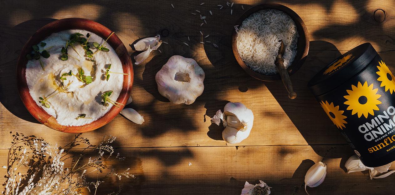 συνταγή σκορδαλιά πρωτεΐνη protein vegan eat healthy διατροφή fitness